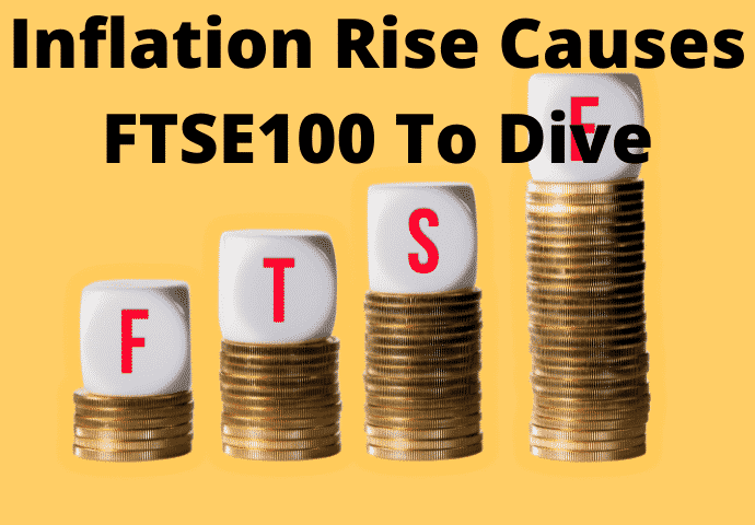 News Of Inflation Rise Causes FTSE100 To Dive